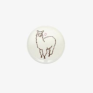 Cute Alpaca Mini Button