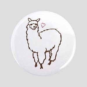 """Cute Alpaca 3.5"""" Button"""