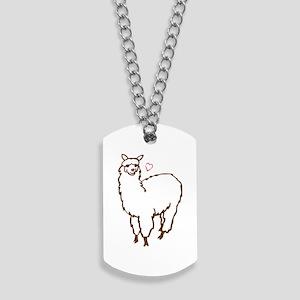 Cute Alpaca Dog Tags