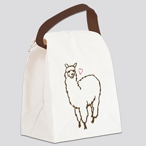 Cute Alpaca Canvas Lunch Bag