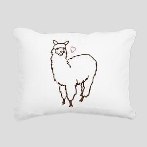 Cute Alpaca Rectangular Canvas Pillow