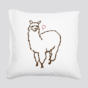 Cute Alpaca Square Canvas Pillow