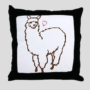 Cute Alpaca Throw Pillow