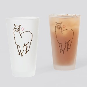Cute Alpaca Drinking Glass