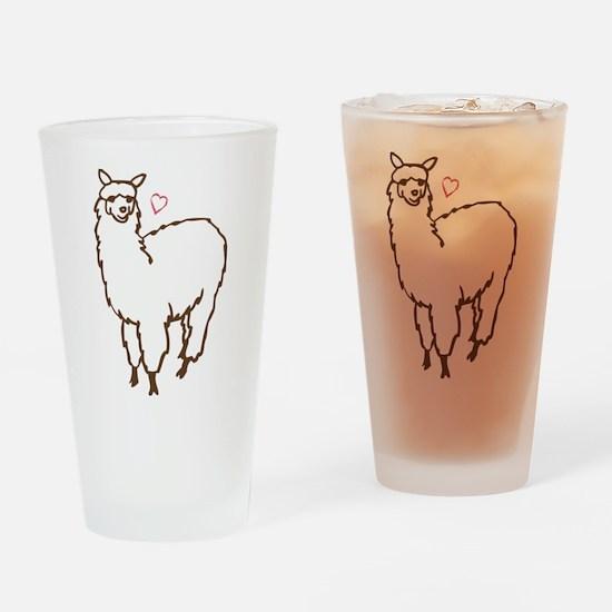 Cute Alpaca Drinking Glass