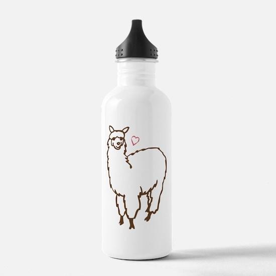 Cute Alpaca Water Bottle