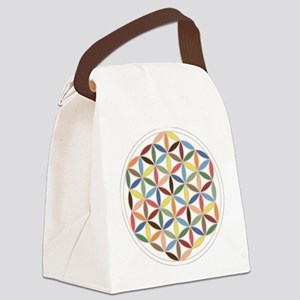 Flower of Life Retro Cols Canvas Lunch Bag