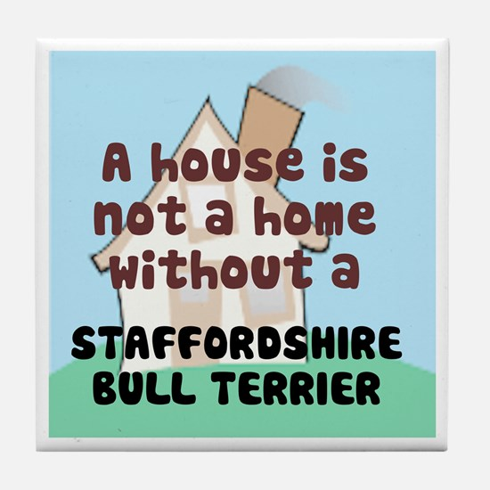 Staffy Home Tile Coaster