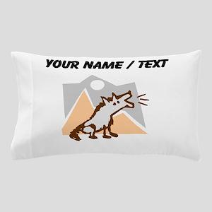 Custom Coyote In Desert Pillow Case