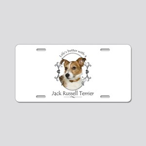 Life's Better Terrier Aluminum License Plate