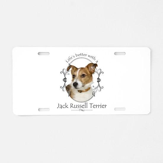 Life's Better Terrier Aluminum License Plate