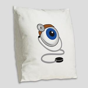 OPTOMITRIST EYE Burlap Throw Pillow