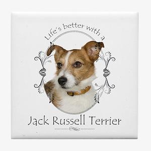 Life's Better Terrier Tile Coaster