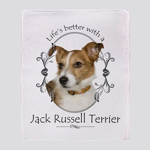 Life's Better Terrier Throw Blanket