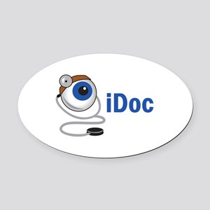 I DOC Oval Car Magnet