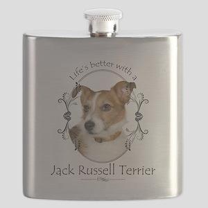 Life's Better Terrier Flask