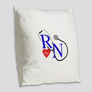 RN FULL FRONT Burlap Throw Pillow