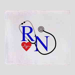RN FULL FRONT Throw Blanket