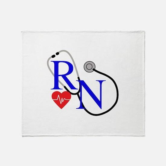 RN FULL FRONT Throw Blanket