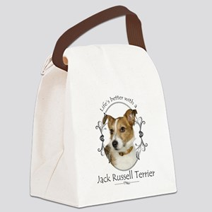 Life's Better Terrier Canvas Lunch Bag