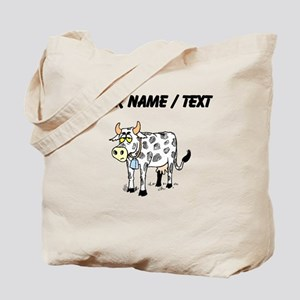 Custom Cow With Bell Tote Bag