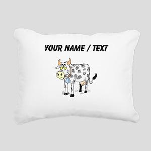 Custom Cow With Bell Rectangular Canvas Pillow