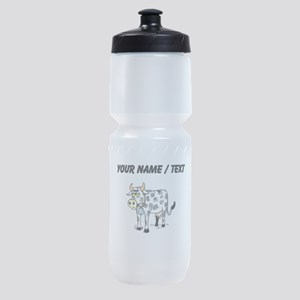 Custom Cow With Bell Sports Bottle