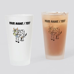 Custom Cow With Bell Drinking Glass