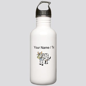 Custom Cow With Bell Water Bottle
