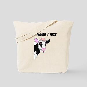 Custom Cow Smiling Tote Bag