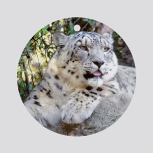 Snow Leopard Ornament (Round)