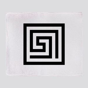 GREEK KEY SQUARE Throw Blanket