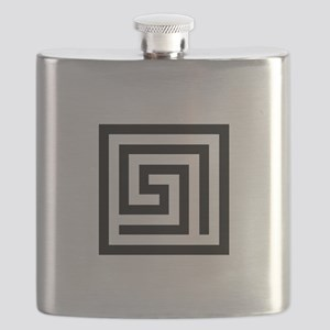 GREEK KEY SQUARE Flask