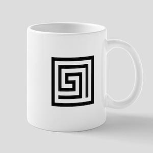GREEK KEY SQUARE Mugs