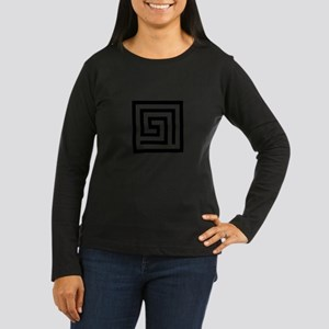 GREEK KEY SQUARE Long Sleeve T-Shirt