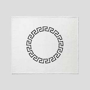 GREEK KEY CIRCLE Throw Blanket