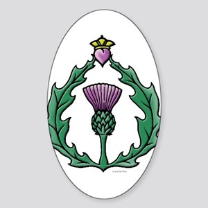 Scotland: Thistle Sticker (Oval)