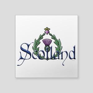 """Scotland: Thistle Square Sticker 3"""" x 3"""""""