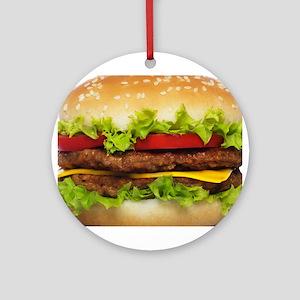 Burger Me Ornament (round)