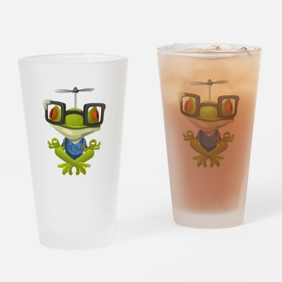 Yoga Frog In Glasses Drinking Glass