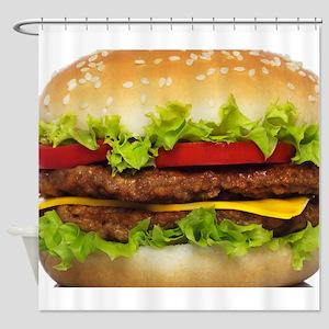 Burger Me Shower Curtain