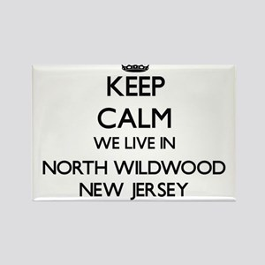 Keep calm we live in North Wildwood New Je Magnets