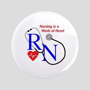 "WORK OF HEART 3.5"" Button"
