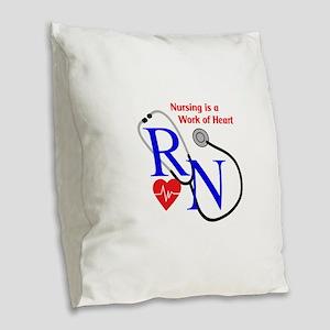 WORK OF HEART Burlap Throw Pillow