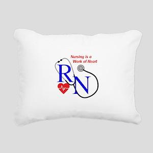 WORK OF HEART Rectangular Canvas Pillow