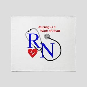 WORK OF HEART Throw Blanket