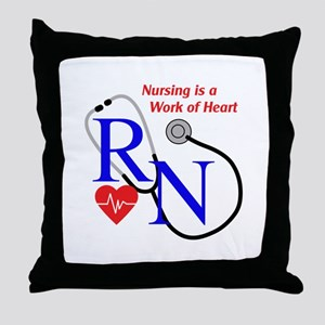 WORK OF HEART Throw Pillow