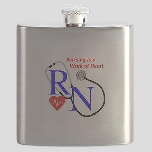 WORK OF HEART Flask