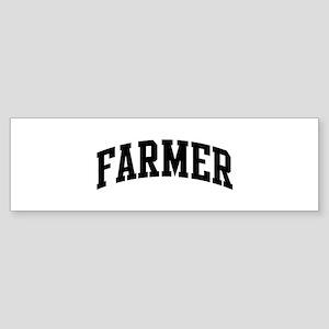 FARMER (curve-black) Bumper Sticker