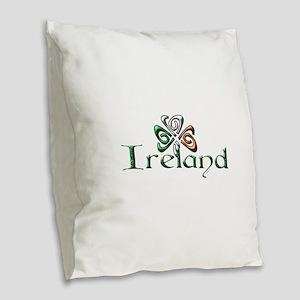 Ireland Burlap Throw Pillow